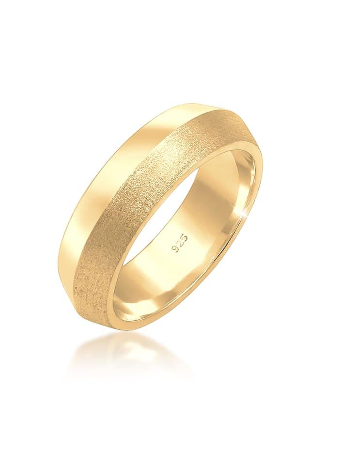 Elli Premium Ring Paarring Bandring Trauring Hochzeit 925Er Silber, Gold