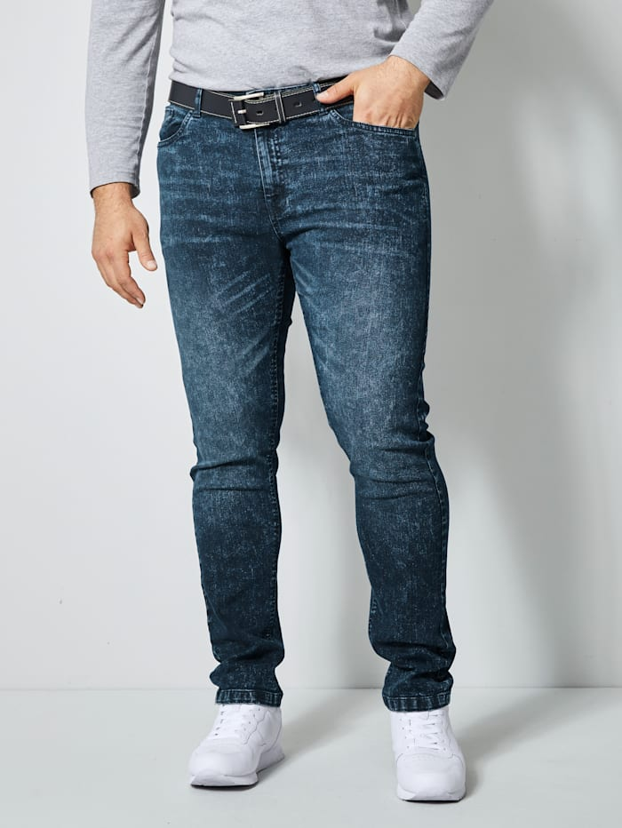 Men Plus Jeans in Stretch-Qualität, Dark blue