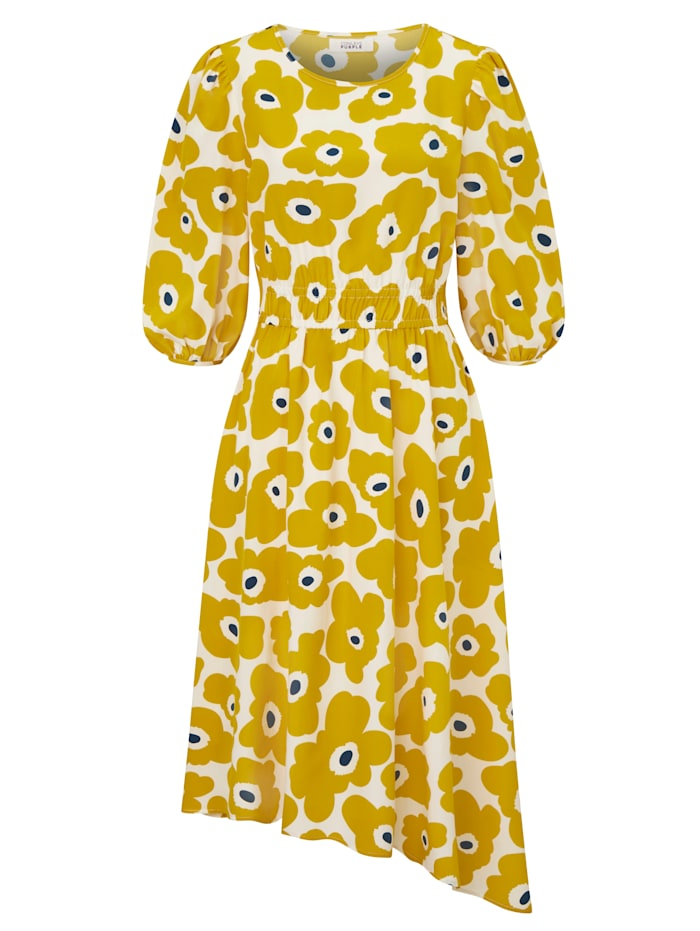 CONLEYS PURPLE Kleid mit Cut-Out, Gelb