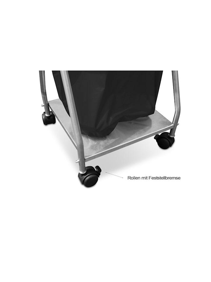 Abfallsammler Super mit Boden und Deckel Schwarz inkl 10 Abfallsäcke 70/120 Liter