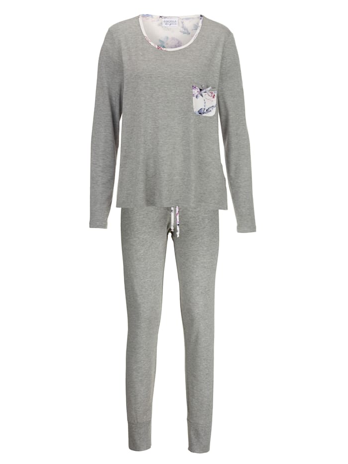 Pyjama met schattig borstzakje