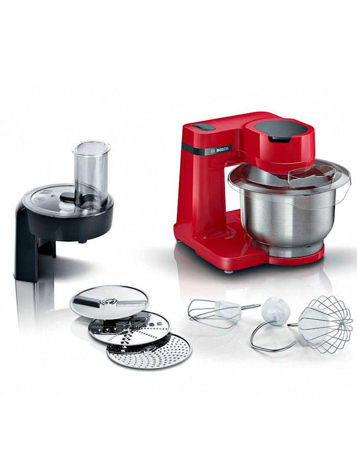 """Bosch Robot de cuisine MUM série 2 """"MUMS2ER01"""" avec broyeur continu, rouge, Rouge"""