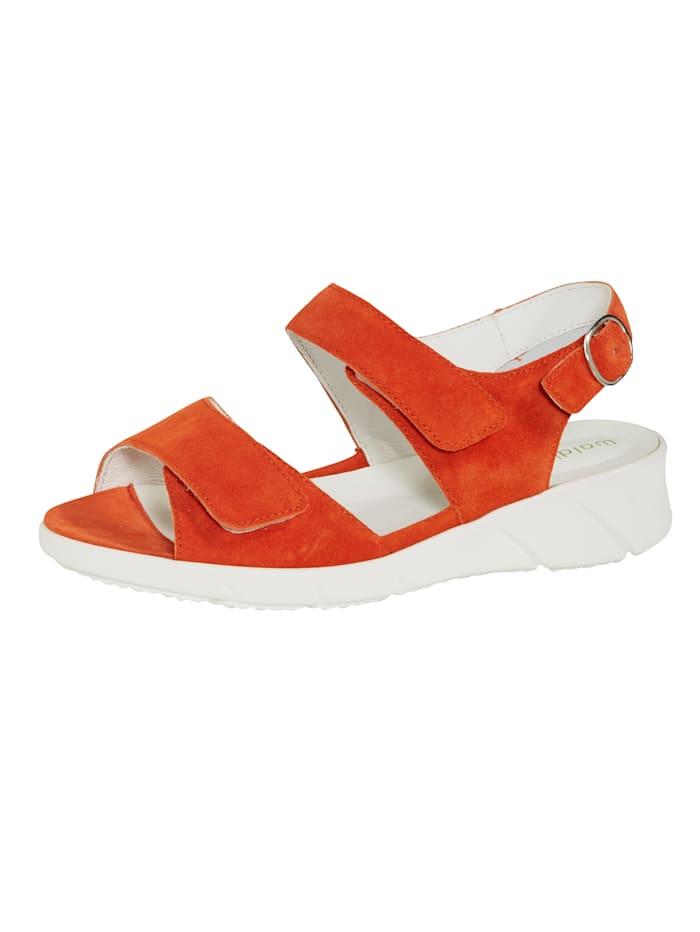 Waldläufer Sandále zapínanie na patentný gombík, Oranžová