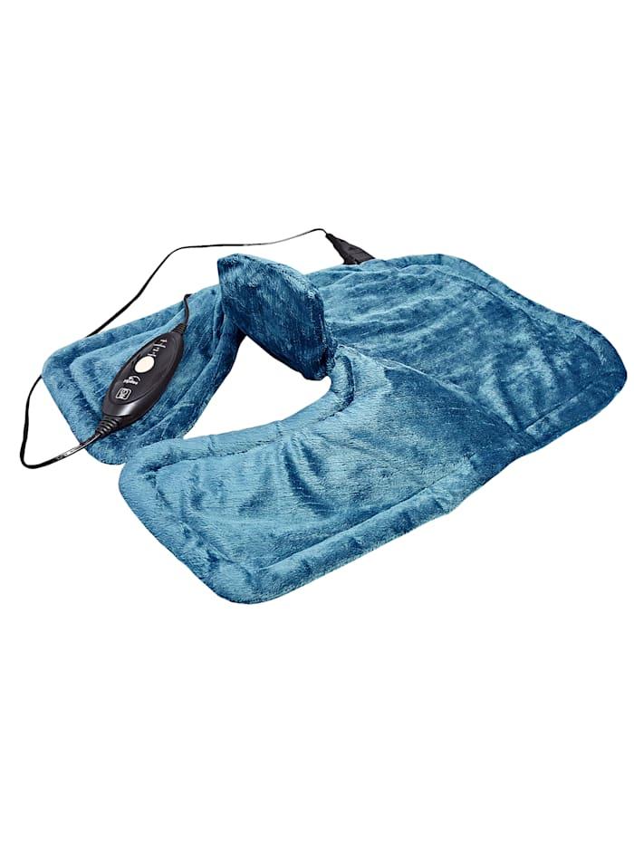 Hydas Coussin chauffant nuque et épaules ultra long, bleu