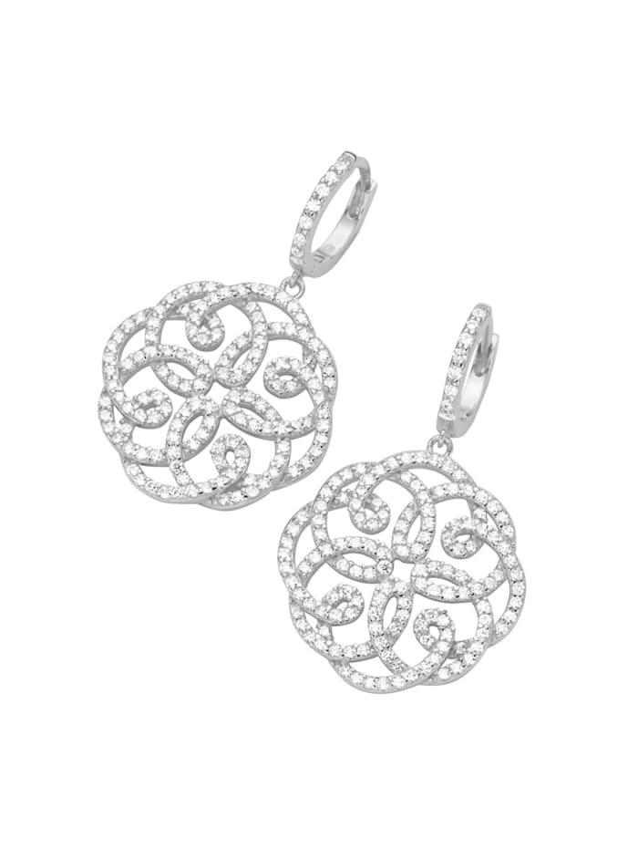 Giorgio Martello Klappcreolen Ornament Behang, Weiss