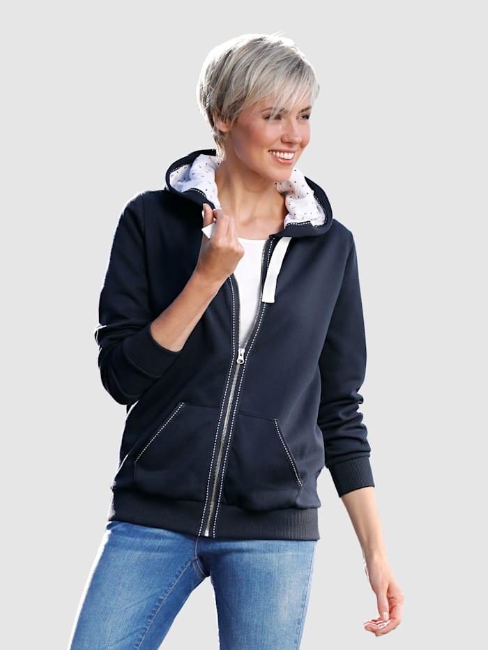 Dress In Sweatjacke mit Kapuze, Marineblau