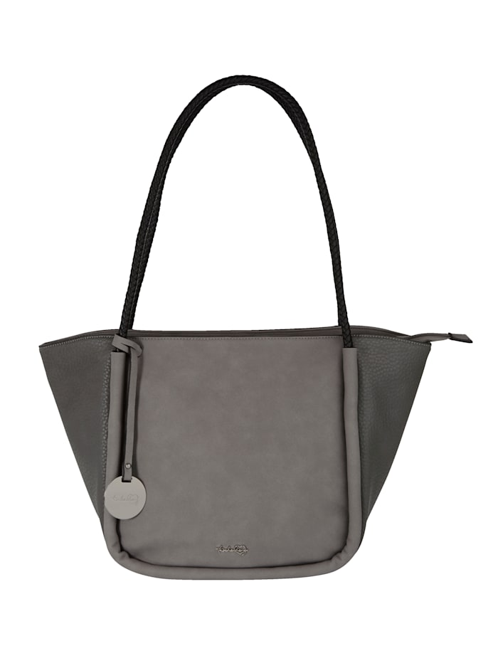 Taschenherz Handbag in a chic snake print 2-piece, Grey