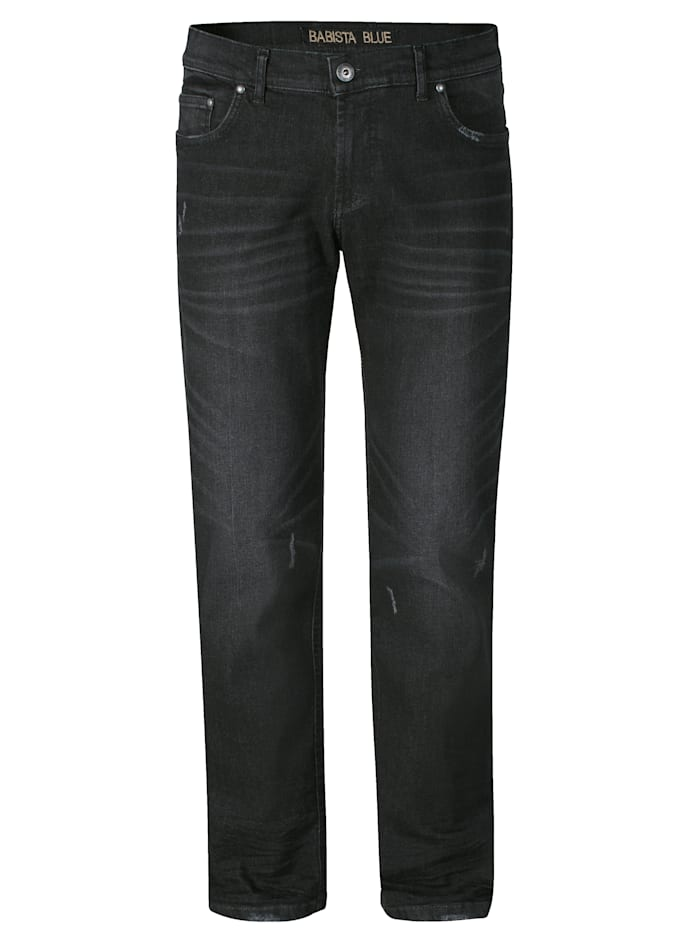 BABISTA Jeans mit Destroyed-Effekten, Schwarz