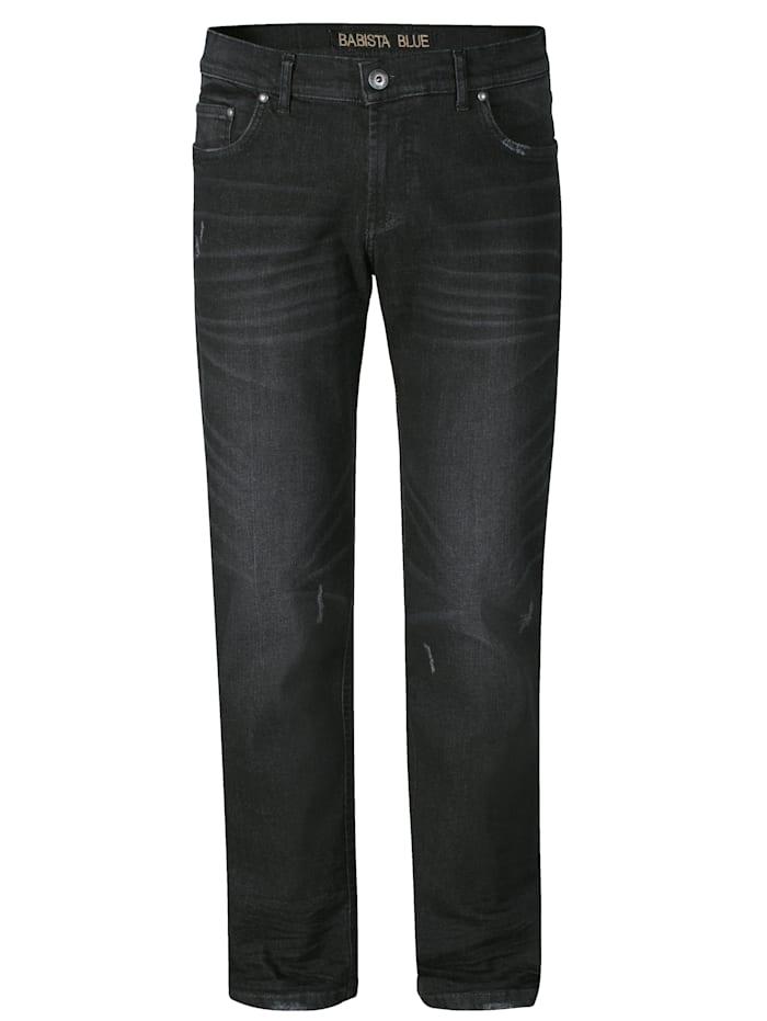 BABISTA Jeans met destroyed effecten, Zwart