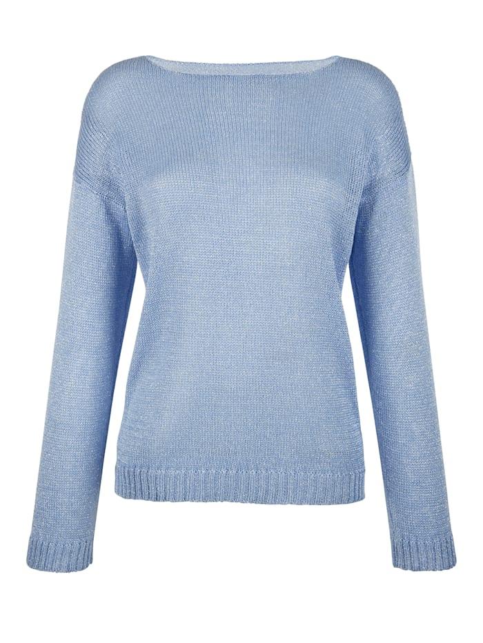 AMY VERMONT Pullover mit Lurex, Blau