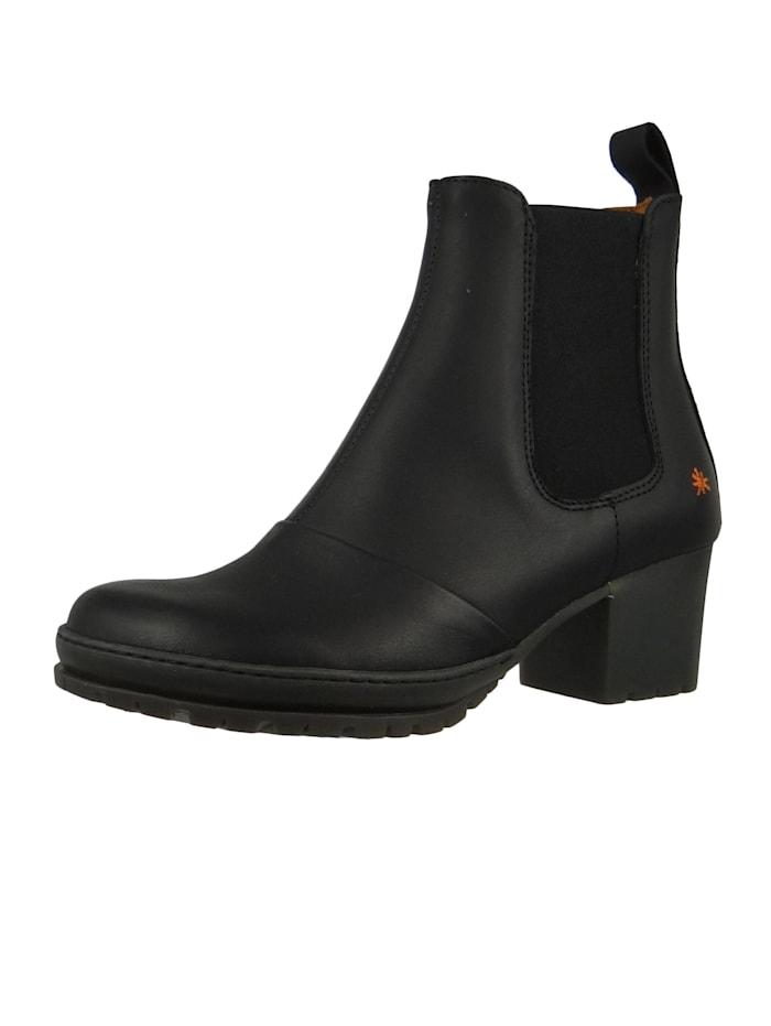 *art Damen Leder Stiefelette Ankle Boot Camden Black Schwarz 1235, Black