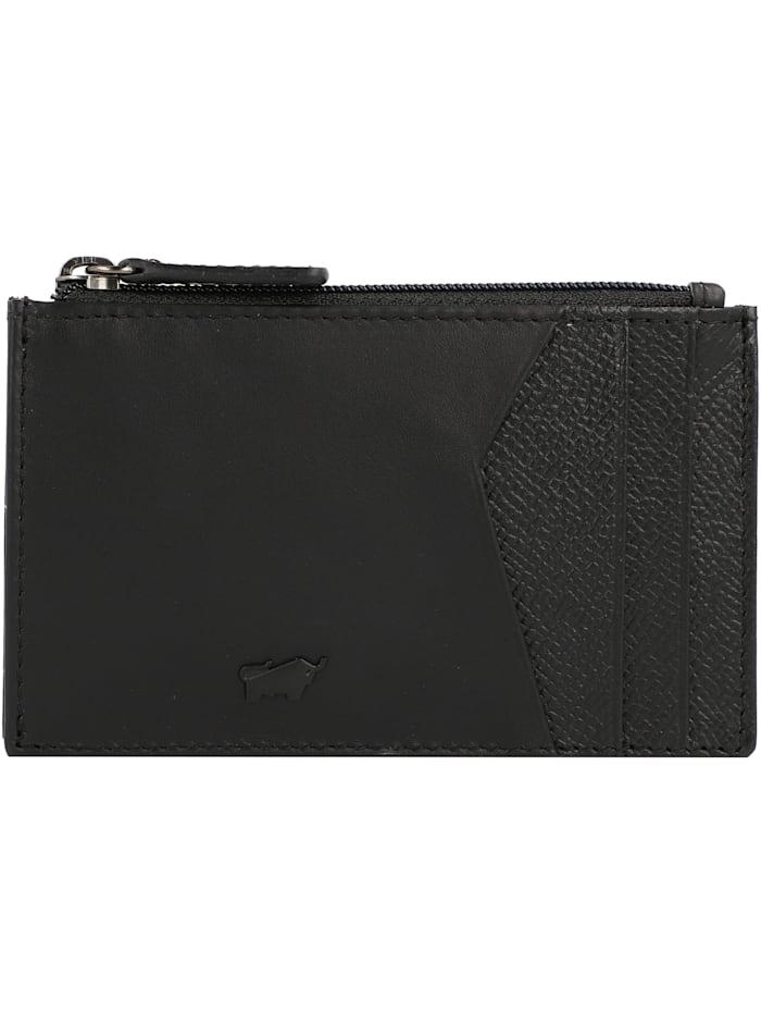 Braun Büffel Monza Geldbörse Leder 12 cm, schwarz