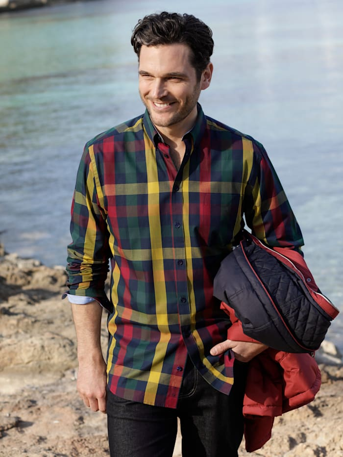 BABISTA Overhemd, Marine/Geel