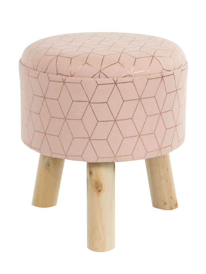 Casamaxx Hocker, Rosa/Gold