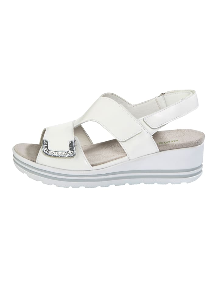 Sandals with glitter detail