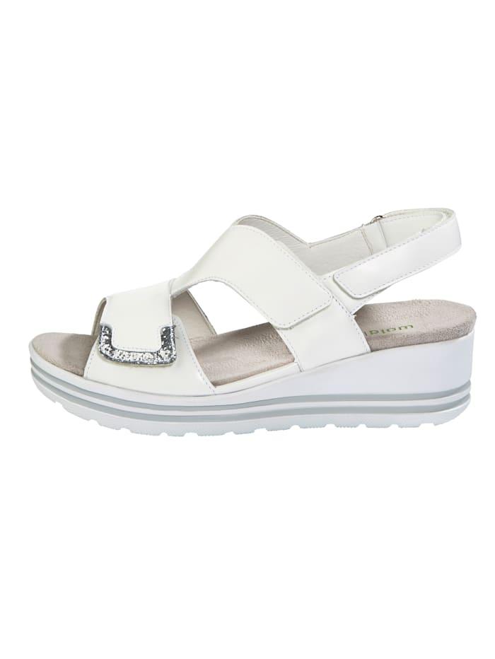Sandály s módní třpytivouaplikací