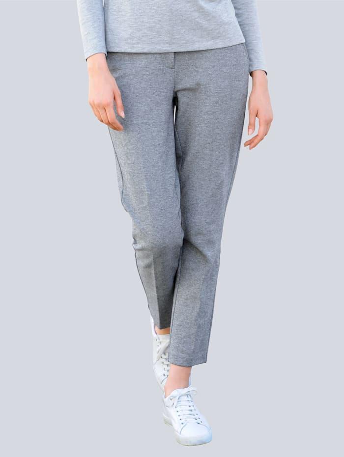 Alba Moda Jerseyhose verziert mit Streifenband, Grau