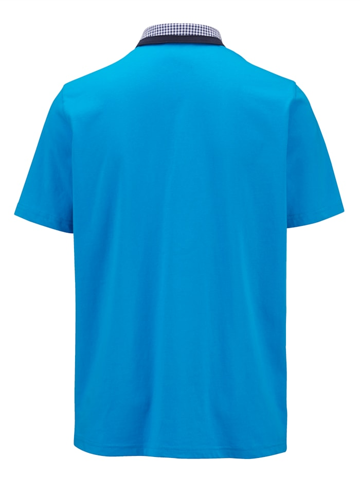 Poloshirt met geruite kraag
