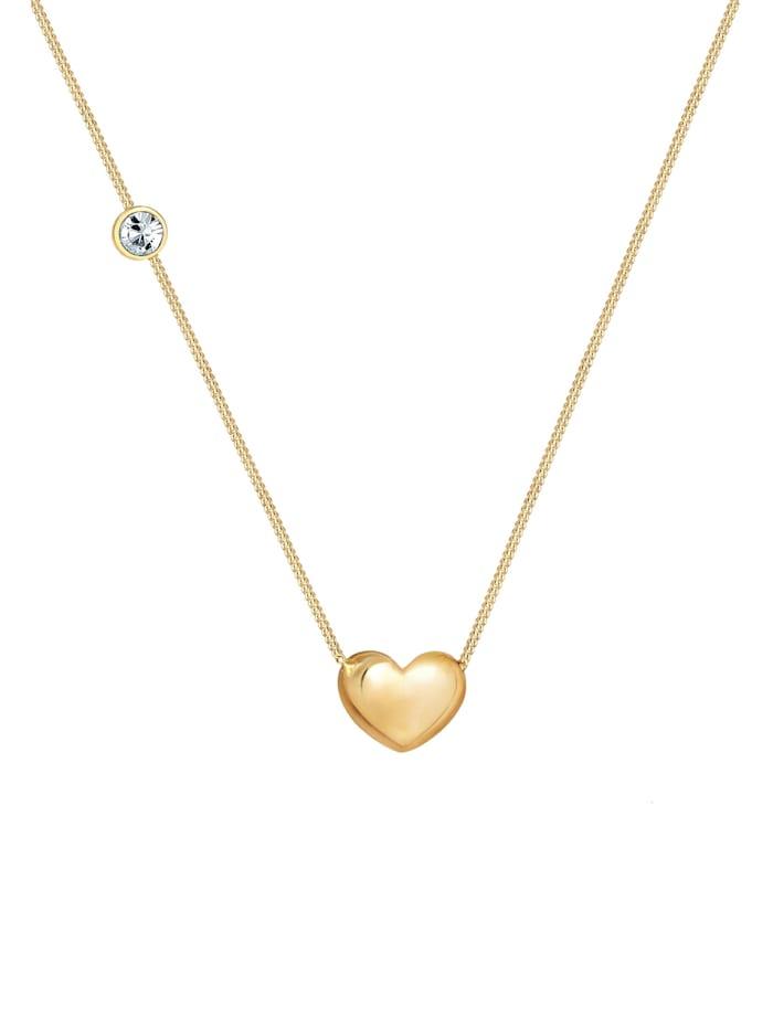 Halskette Herz Solitär Swarovski® Kristalle 925 Silber