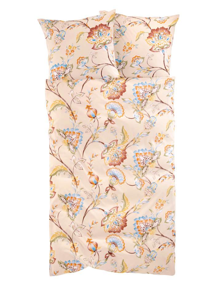 Webschatz 2-delige set satijnen bedlinnen Leila, beige/multicolor