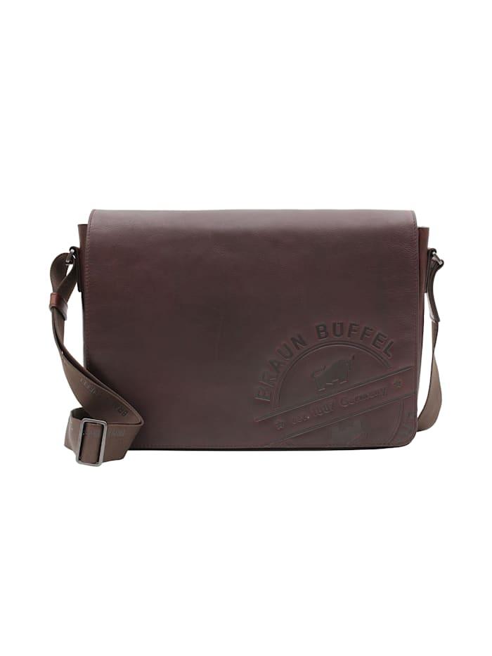 Braun Büffel Messenger Bag Parma LP mit markanter Logoprägung, braun