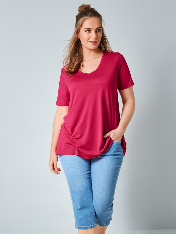 Janet & Joyce Shirt aus reiner Viskose, Pink