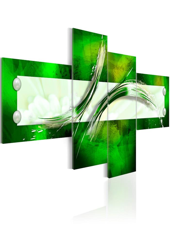 artgeist Wandbild grün  abstraktes Motiv, Weiß,Grün