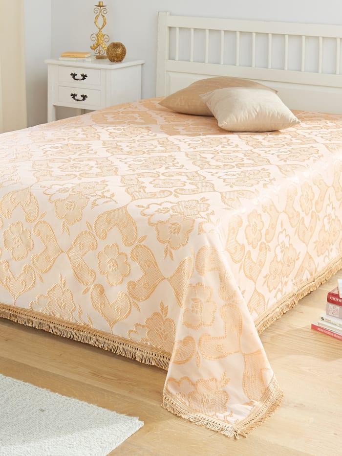 Webschatz Bettüberwurf 'CORA', beige