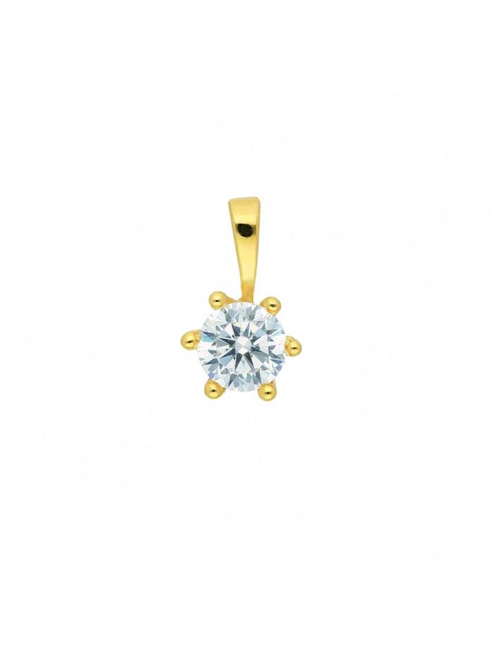 1001 Diamonds Damen Goldschmuck 333 Gold Anhänger mit Zirkonia Ø 4,7 mm, gold