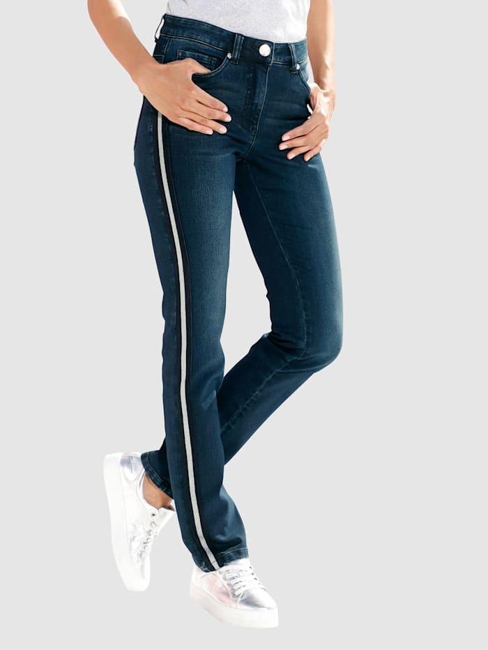 Laura Kent Jeans met opgestikte band, Dark blue