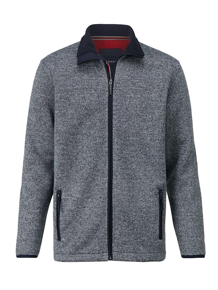 BABISTA Veste en maille polaire avec poches zippées, Marine/Blanc