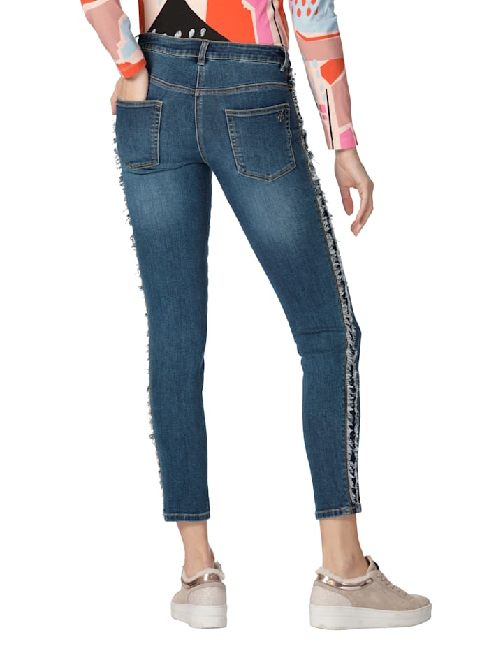 Jeans mit Fransen an den Seiten