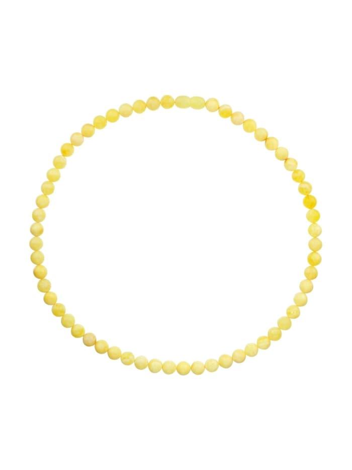 OSTSEE-SCHMUCK Kette - Kugel 8 mm - Bernstein - ,, gelb