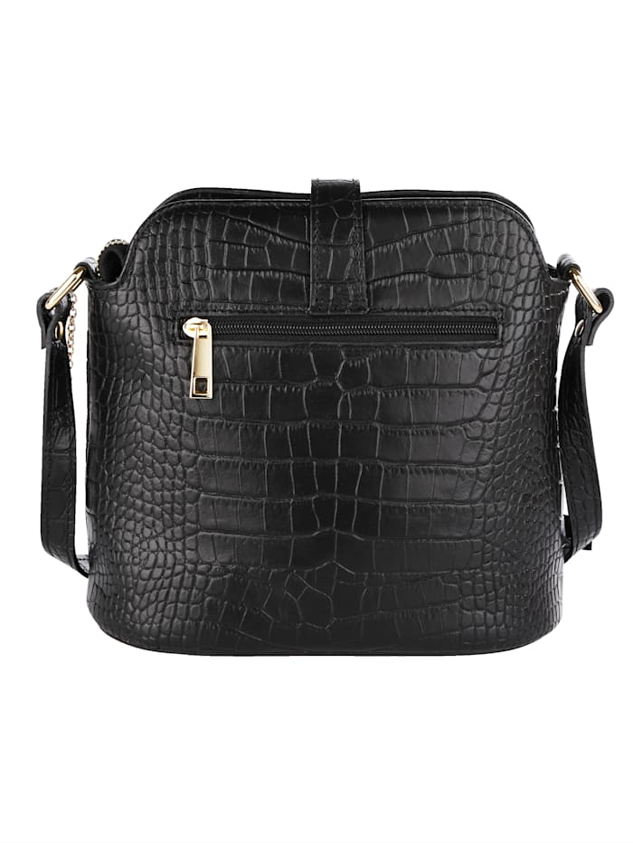 Shoulder bag made from embossed leather