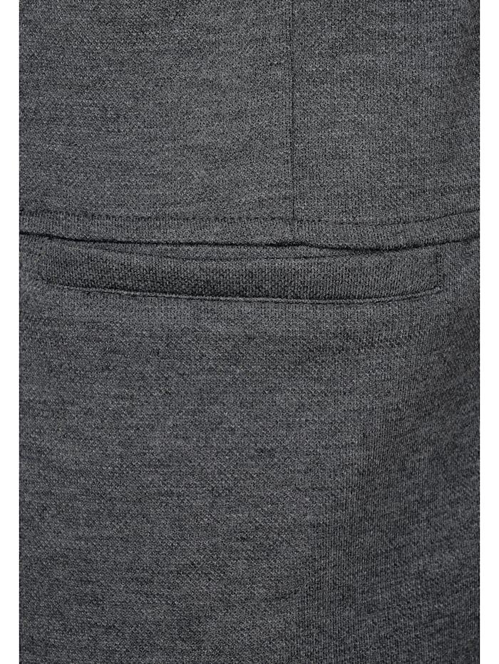Jersey Mantel mit Piqué