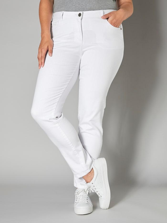 Janet & Joyce Slim Fit Jeans, Weiß
