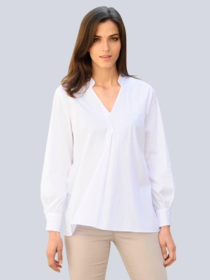 Alba Moda Bluse in modischer Oversized-Form, Weiß