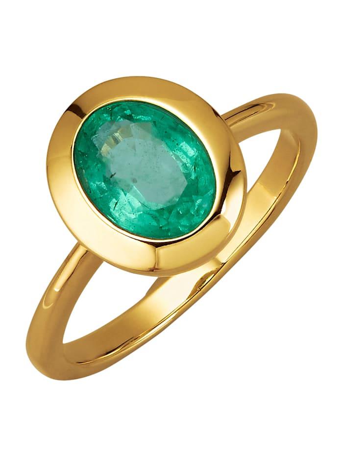 Diemer Farbstein Damenring mit Smaragd, Grün