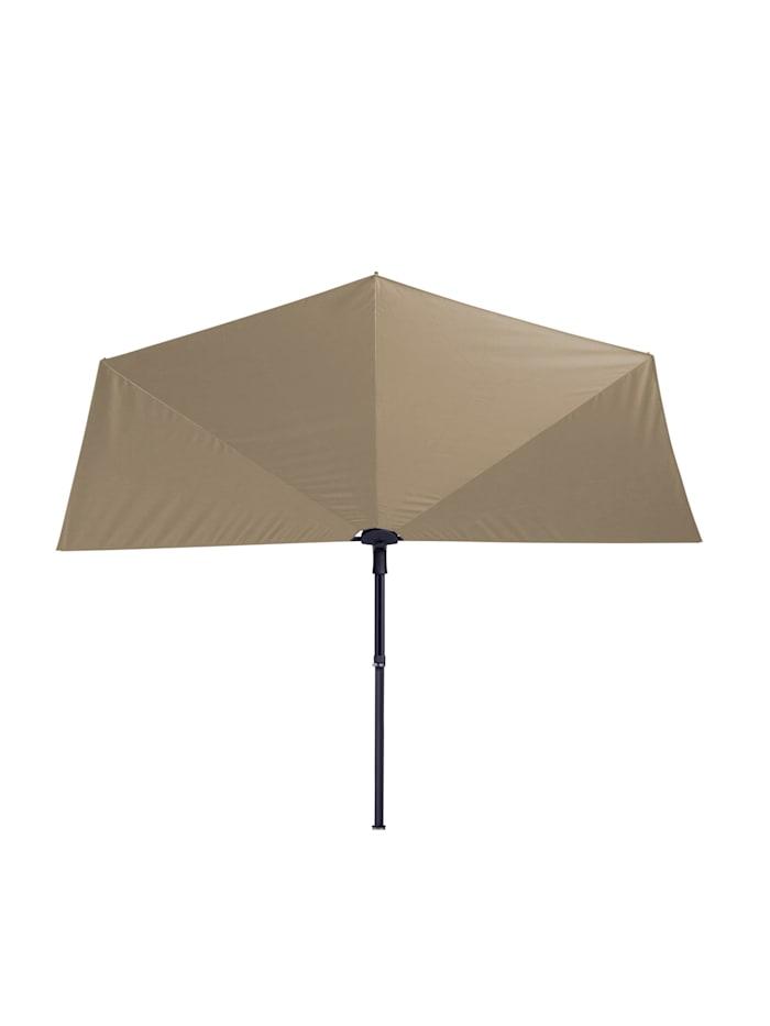 Balkon Sonnenschirm Fächer Schirm 300x150cm Ziegel Rot mehrfach verstellbar