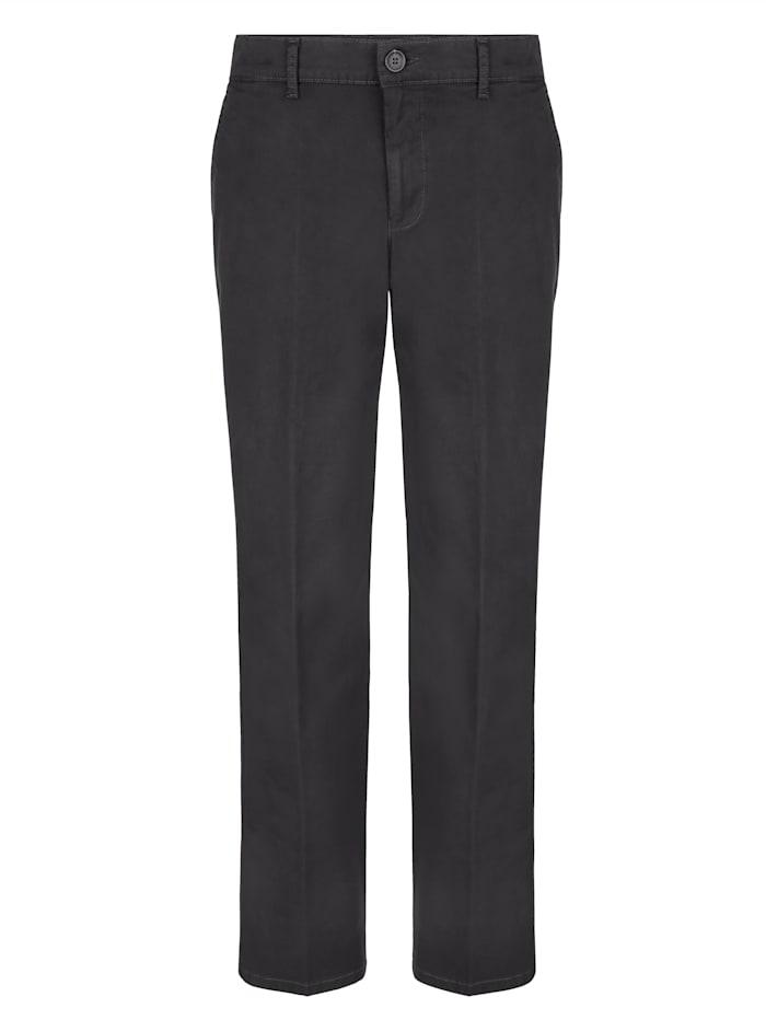 Roger Kent Pantalon chino avec poches dos passepoilées, Anthracite