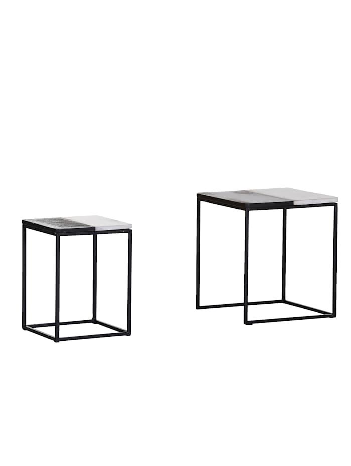 IMPRESSIONEN living Beistelltisch-Set, 2-tlg., schwarz/weiß