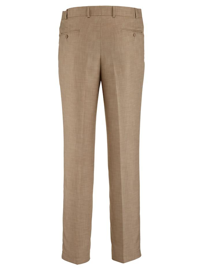 Pantalon sans pinces d'aspect lin très élégant