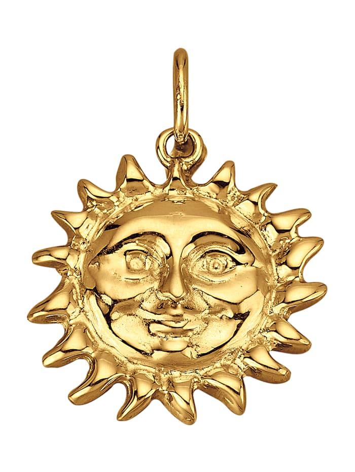 Diemer Gold Sonnen-Anhänger in Gelbgold 585, Gelbgoldfarben