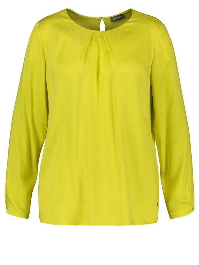 Samoon Bluse aus fließender Viskose, Blazing Yellow
