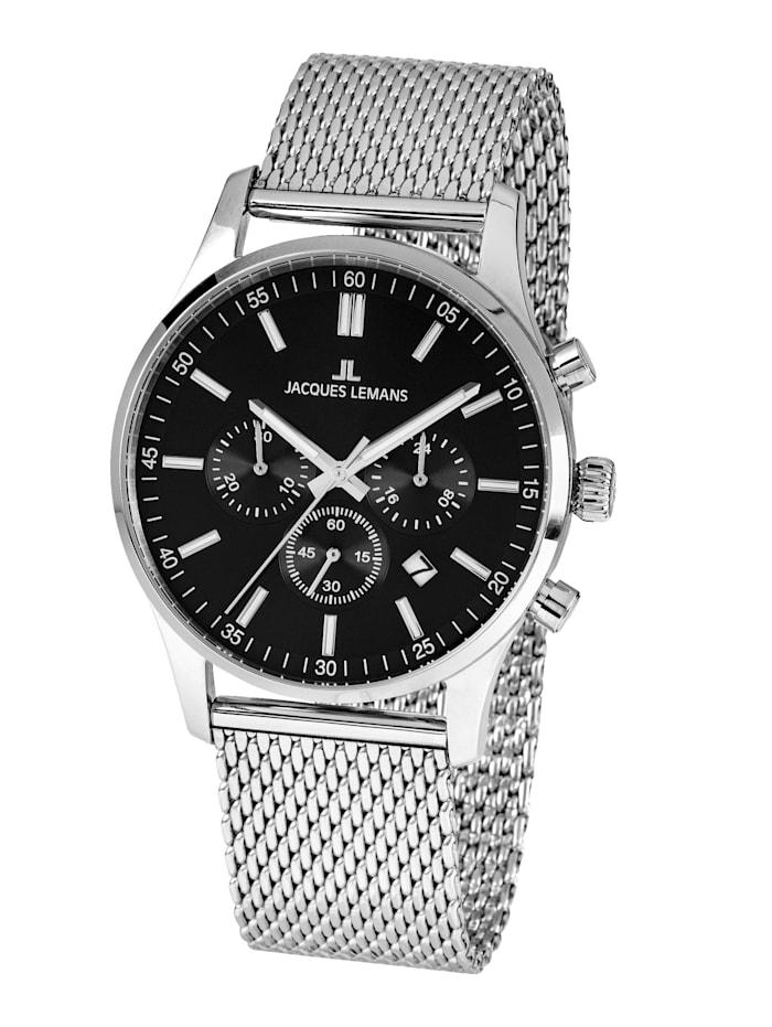 Jacques Lemans Herren-Uhr Chronograph Serie: London, Kollektion: Classic: 1- 2025F, Silberfarben