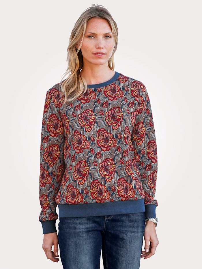 Sweatshirt in effektvoller Jacquard-Optik