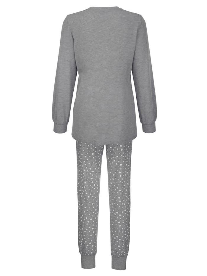 Schlafanzug mit süßem Druckmotiv