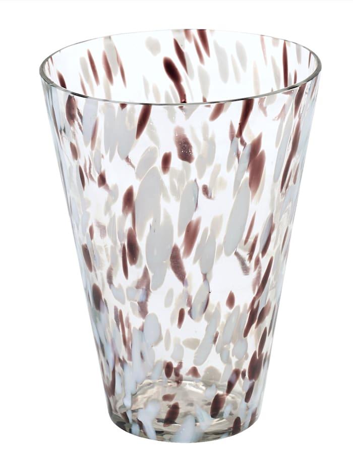 IMPRESSIONEN living Vase, klar/braun