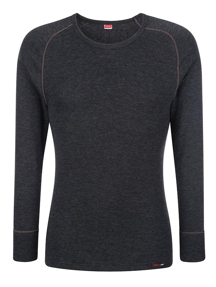 Con-ta T-shirt à manches longues avec fonction thermique, Anthracite