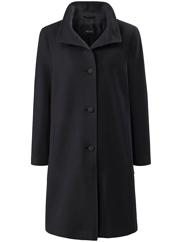 Basler Eleganter Wollmantel mit Umlegekragen, black